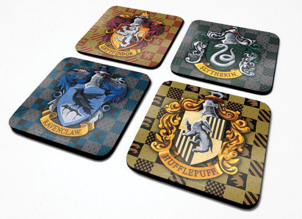 Häuser Wappen Untersetzer 4er-Set Harry Potter