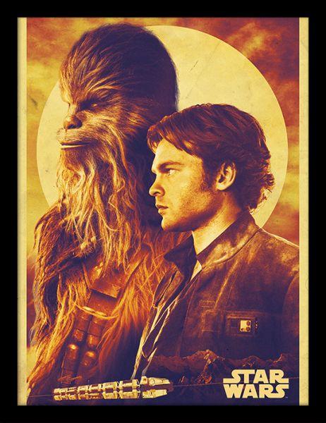 Solo: A Star Wars Story (Han und Chewie), gerahmt