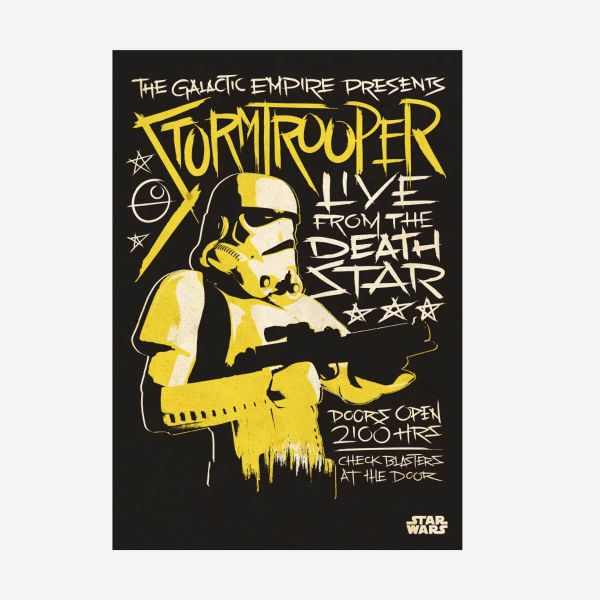 Stormtrooper Live from the Deathstar Metall Poster Star Wars