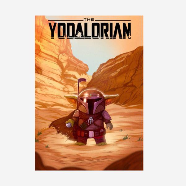 Mandalorian The Yodalorian Metall Poster Star Wars
