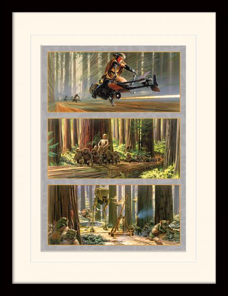 Action on Endor's Moon gerahmtes Bild Star Wars