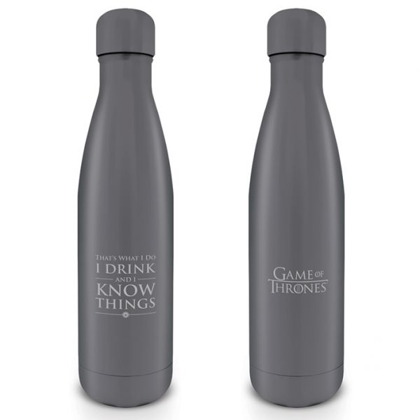 Game Of Thrones (I Drink And I Know Things), Trinkflasche aus Edelstahl