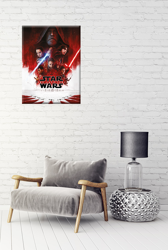 60x80cm Star Wars: The Last Jedi One Sheet Leinwanddruck