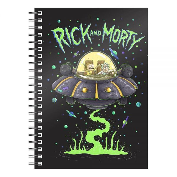 Space Ship A5 Notizbuch Rick and Morty