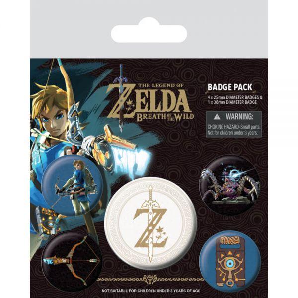 Zelda Breath of the Wild Z Emblem Button-Set 5-teilig Nintendo
