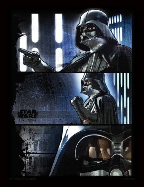 Star Wars: Rogue One (Darth Vader Panels), Gerahmt