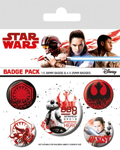 Star Wars: The Last Jedi (Resist), Button-Set 5-teilig