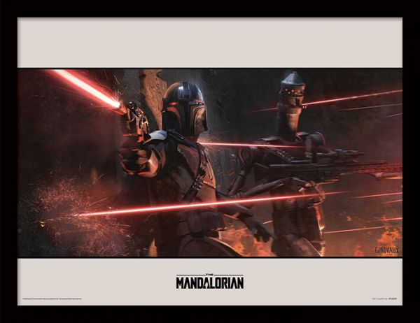 Battle The Mandalorian gerahmtes Bild Star Wars