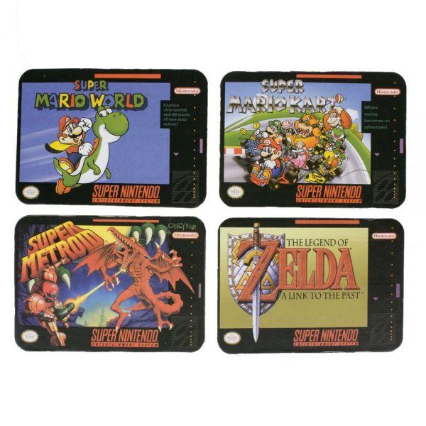 Super Nintendo Untersetzer aus Kork 4er-Pack