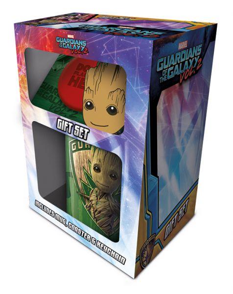 Guardians Of The Galaxy (Groot) Geschenk-Set, 3-teilig, Tasse+Untersetzer+Schlüsselanhänger