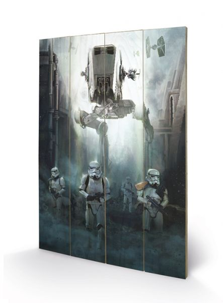 Star Wars: Rogue One, Stormtrooper Patrol, Holzdruck