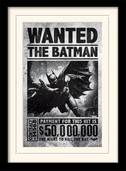 Wanted Batman Arkham gerahmtes Bild DC Comics
