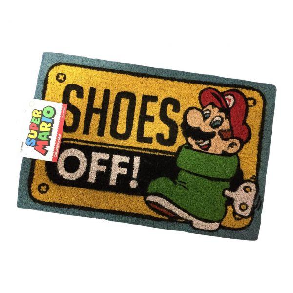 Super Mario Shoes Off Fußmatte Nintendo