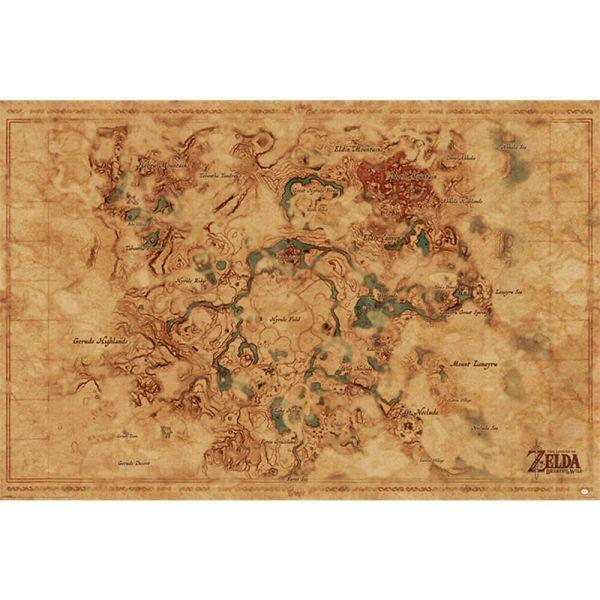Breath of the Wild Hyrule Karte Maxi Poster The Legend of Zelda