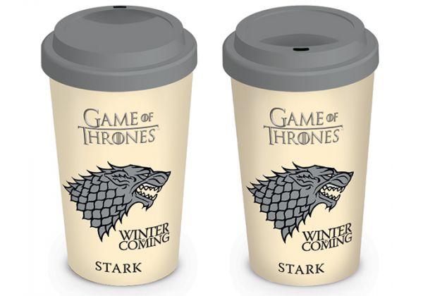 Winter is Coming Stark To-Go-Becher Game of Thrones