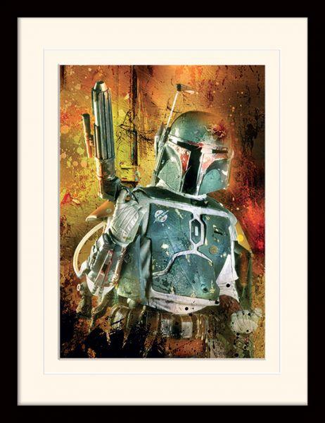 Star Wars: Boba Fett Painted, Gerahmt