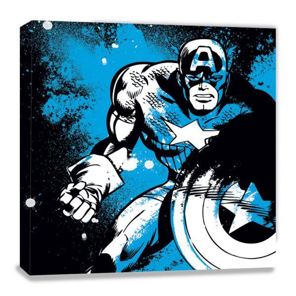 Captain America Splatter Leinwandbild Marvel