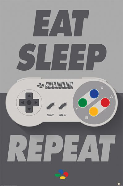 Nintendo: Eat Sleep Snes Repeat, Maxi Poster