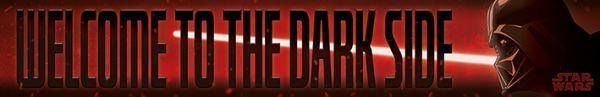 Welcome to the Dark Side Holzschild Star Wars