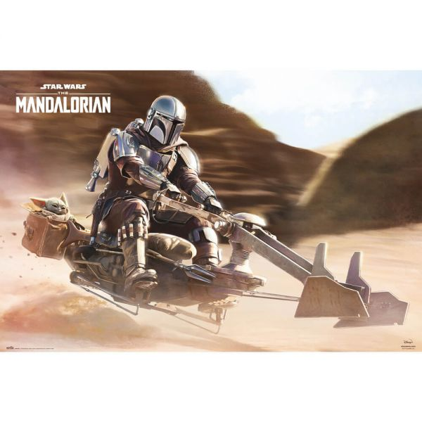 Speeder Bike Mandalorian Maxi Poster Star Wars