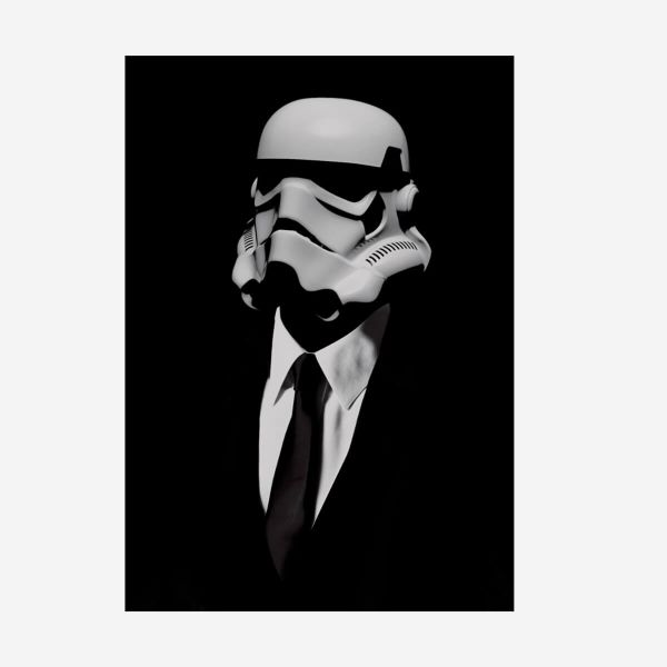 Eleganter Stormtrooper Metall Poster Star Wars