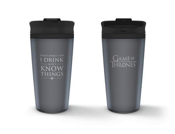 Game Of Thrones (I Drink And I Know Things), Reisetasse, Metall