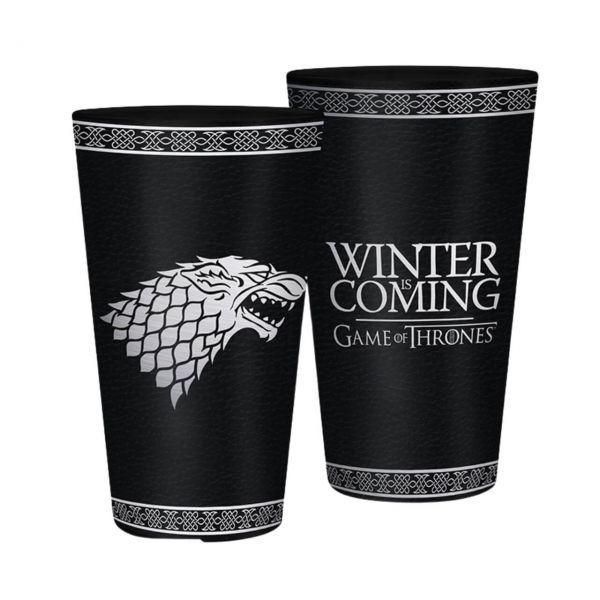 Stark Winter is Coming XXL Glas Game of Thrones