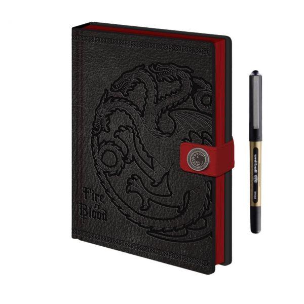 Targaryen Fire and Blood Premium A5 Notizbuch-Set Game of Thrones