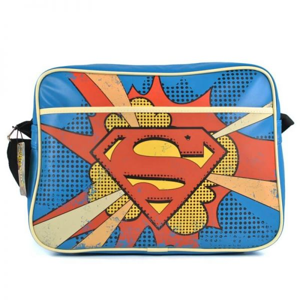 Superman Logo Retro Umhängetasche DC Comics
