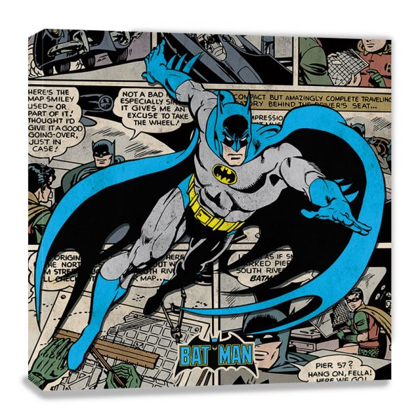 DC Comics: Batman (Burst), Leinwanddruck