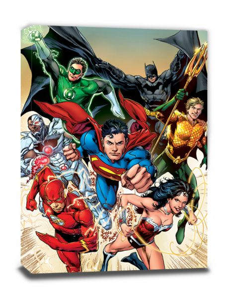 Attack Justice League Leinwandbild DC Comics