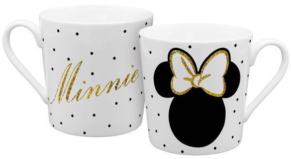 Minnie Mouse Gold Glitzer Tasse Disney