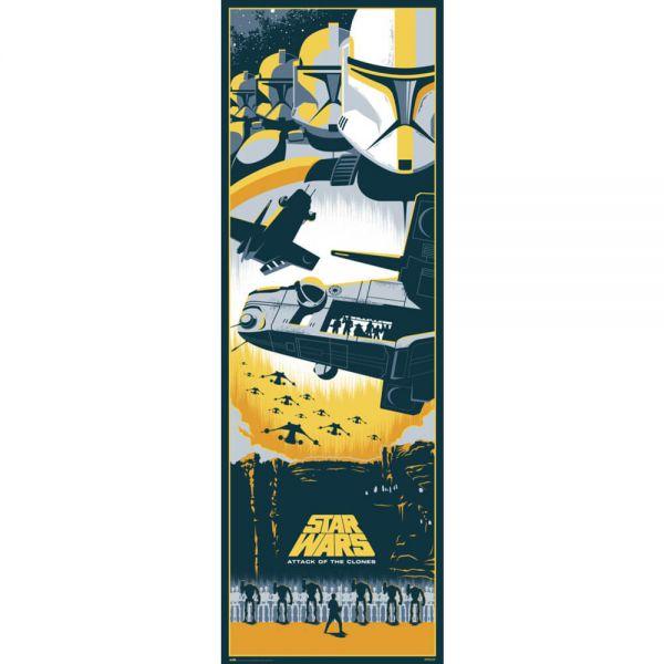Episode II Angriff der Klonkrieger Tür Poster Star Wars