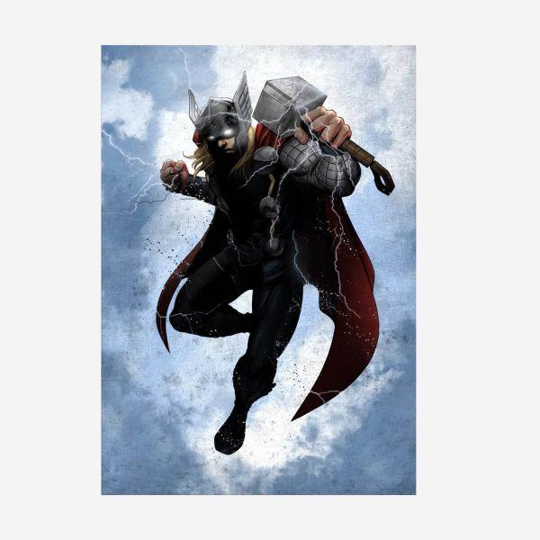Thor Dark Edition – Metall Poster
