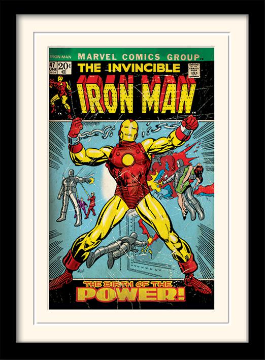 iron man birth of power gerahmt gerahmte kunstdrucke. Black Bedroom Furniture Sets. Home Design Ideas