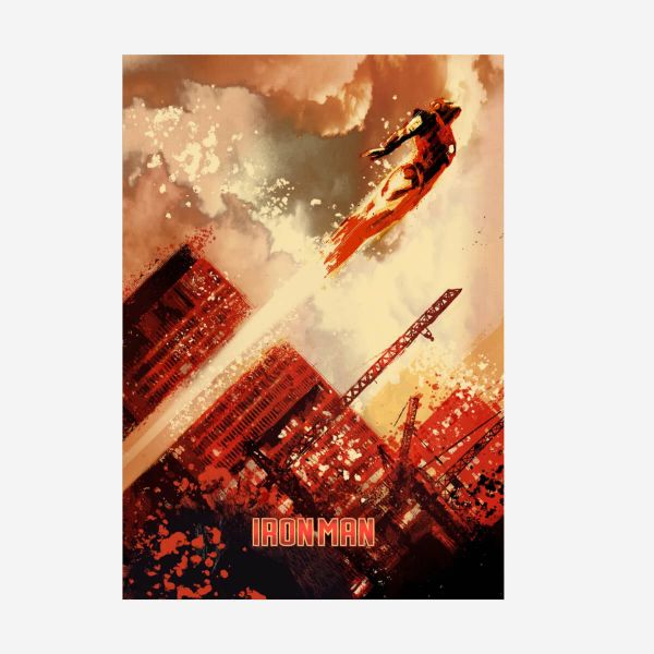 Iron Man Metall Poster Marvel 80-jähriges Jubiläum