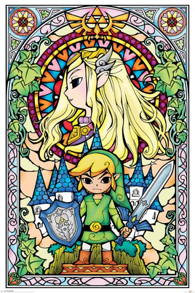 Glasmalerei Zelda Maxi Poster Nintendo