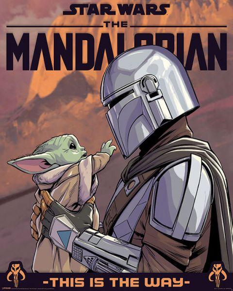 Grogu und Mando Mini-Poster Star Wars