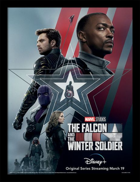 Falcon and Winter Soldier gerahmtes Bild Marvel