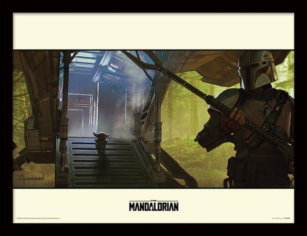 Explore The Mandalorian gerahmtes Bild Star Wars