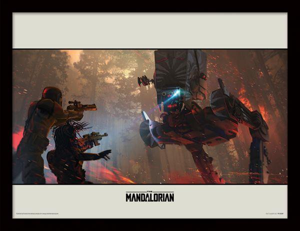 Walker The Mandalorian gerahmtes Bild Star Wars