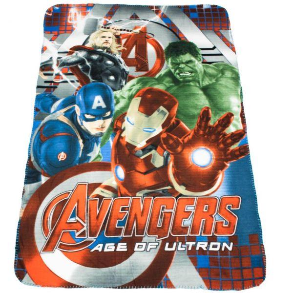 Avengers Age of Ultron Fleece Decke blau