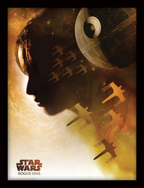 Jyn Silhouette Rogue One gerahmtes Bild Star Wars