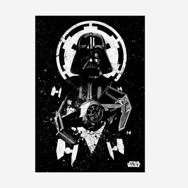 Darth Vader Pilot Metall Poster Star Wars