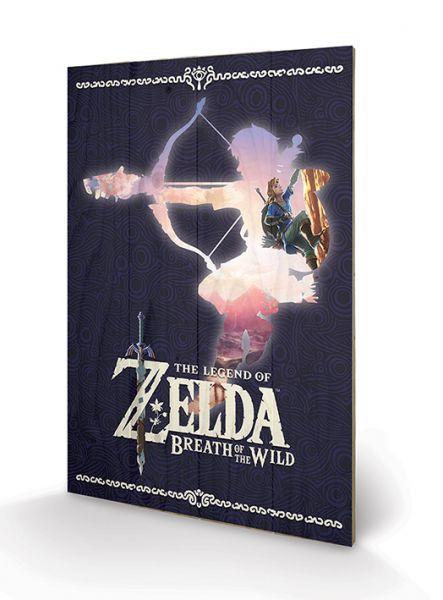 Zelda: Breath Of The Wild (Silhouette), Holzdruck