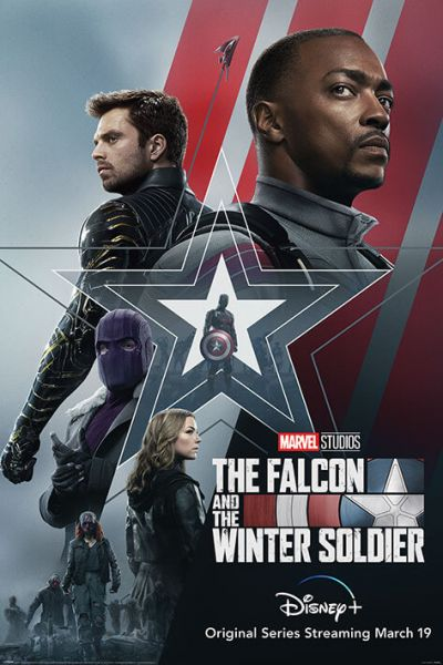Falcon und Winter Soldier Stars & Stripes Maxi Poster Marvel