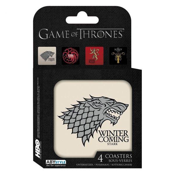 GoT Häuser Untersetzer 4er-Set Game of Thrones