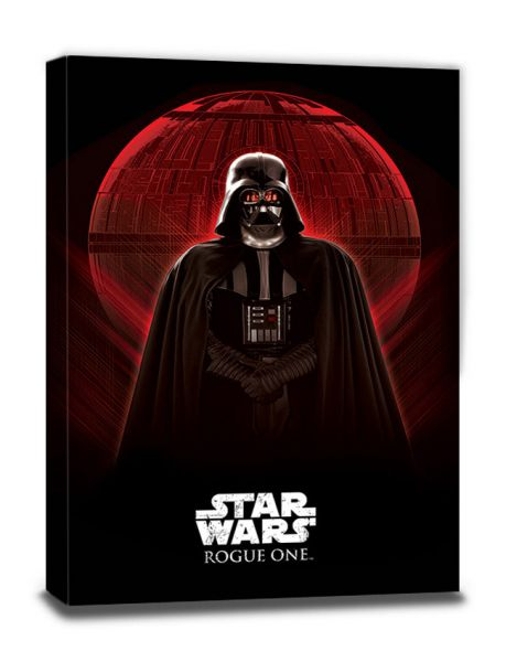 Darth Vader & Death Star Rogue One Leinwandbild Star Wars