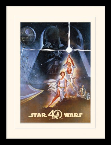 Star Wars: 40th Anniversary, New Hope Art, Gerahmt | Gerahmte ...