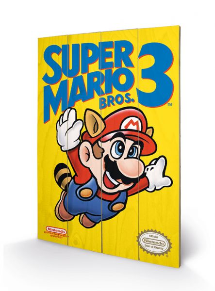 Super Mario Bros 3. (Nes Cover), Holzdruck